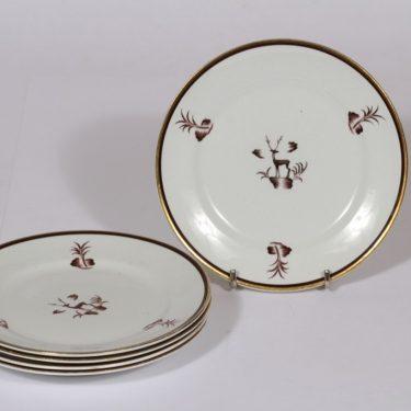 Arabia Diana lautaset, pieni, 5 kpl, suunnittelija , pieni, serikuva