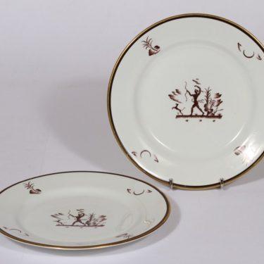 Arabia Diana lautaset, pieni, 2 kpl, suunnittelija , pieni, serikuva
