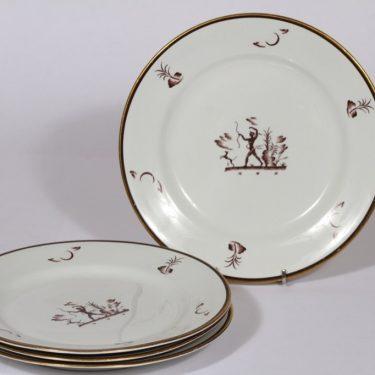 Arabia Diana lautaset, matala, 4 kpl, suunnittelija , matala, siirtokuva