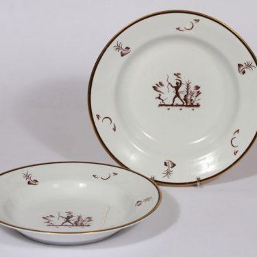 Arabia Diana lautaset, syvä, 2 kpl, suunnittelija , syvä, siirtokuva