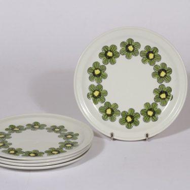 Arabia Primavera lautaset, pieni, 5 kpl, suunnittelija , pieni, serikuva, retro