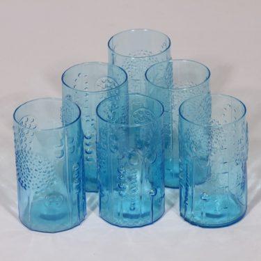 Nuutajärvi Flora lasit, 20 cl, 6 kpl, suunnittelija Oiva Toikka, 20 cl