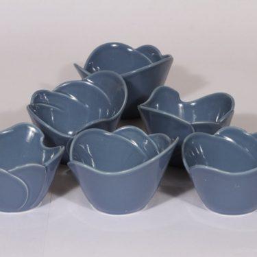 Arabia Tuuli annoskulhot, sininen, 6 kpl, suunnittelija ,