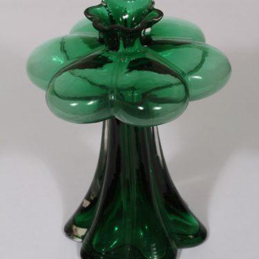 Riihimäen lasi Päivänkukka maljakko, vihreä, suunnittelija Helena Tynell,  kuva 2