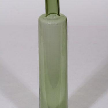 Riihimäen lasi Koristepullo koristepullo, vihreä, suunnittelija Nanny Still, signeerattu