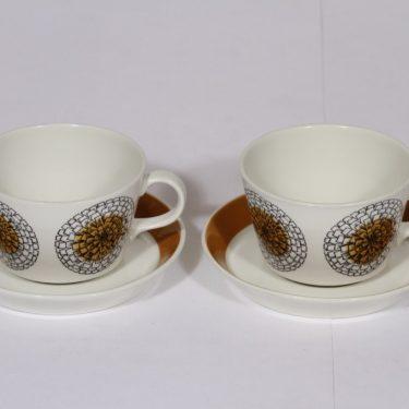 Arabia Kehäkukka teekupit, 2 kpl, suunnittelija , serikuva