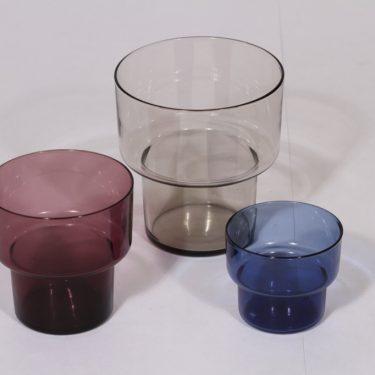 Iittala Viola maljakot, eri värejä, 3 kpl, suunnittelija Lisa Johansson-Pape, eri kokoja
