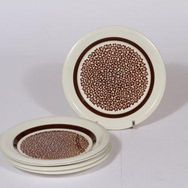 Arabia Faenza leivoslautaset, ruskea, 5 kpl, suunnittelija , serikuva