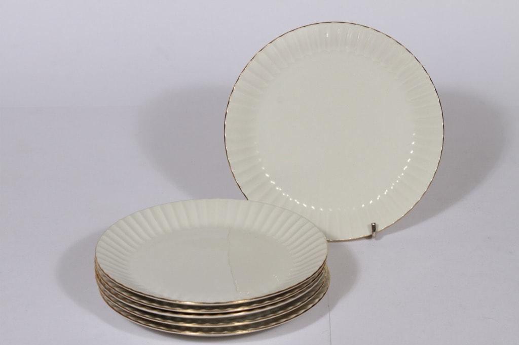 Arabia Kultakorva lautaset, 6 kpl, suunnittelija , kullattu
