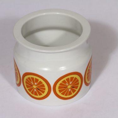 Arabia Pomona purnukka, appelsiini, suunnittelija , appelsiini, serikuva, retro