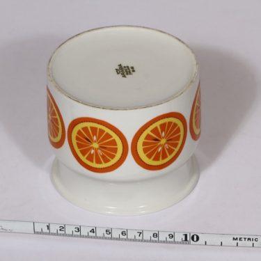 Arabia Pomona purnukka, appelsiini, suunnittelija , appelsiini, serikuva, retro kuva 2