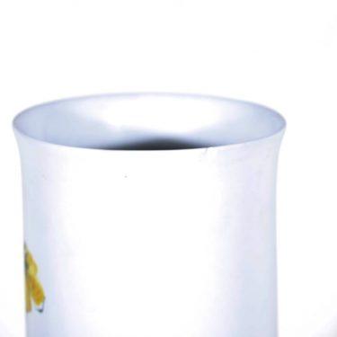 Arabia Kukka maljakko, käsinmaalattu, suunnittelija Hilkka-Liisa Ahola, käsinmaalattu, signeerattu kuva 3