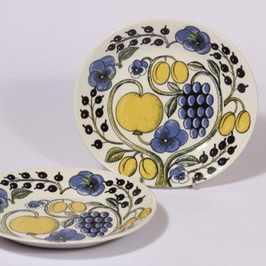Arabia Paratiisi lautaset, 2 kpl, suunnittelija , serikuva