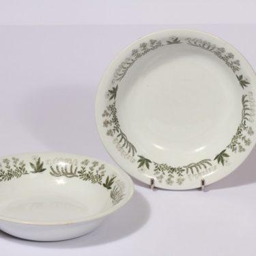 Arabia Polaris lautaset, syvä, 2 kpl, suunnittelija , syvä, serikuva