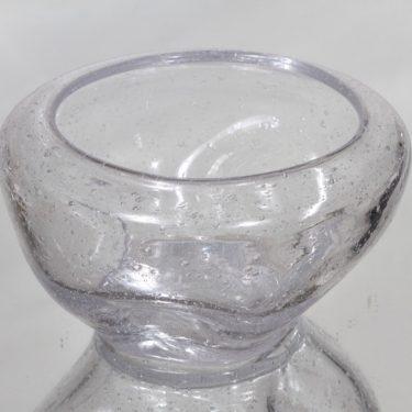 Riihimäen lasi taide-esine, kirkas, suunnittelija Runar Engblom, signeerattu