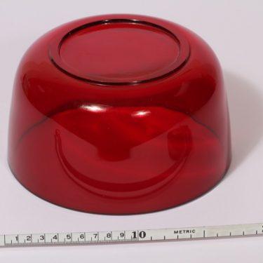 Nuutajärvi 5577 kulho, rubiininpunainen, suunnittelija Saara Hopea,  kuva 2
