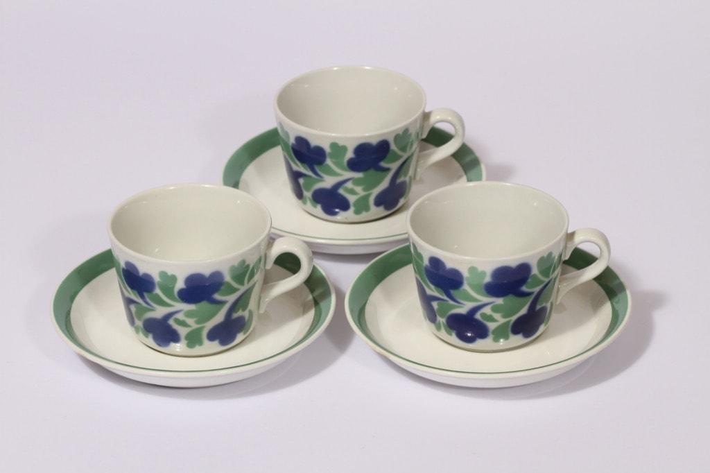 Arabia AA kahvikupit, retro, 3 kpl, suunnittelija , retro, puhalluskoriste