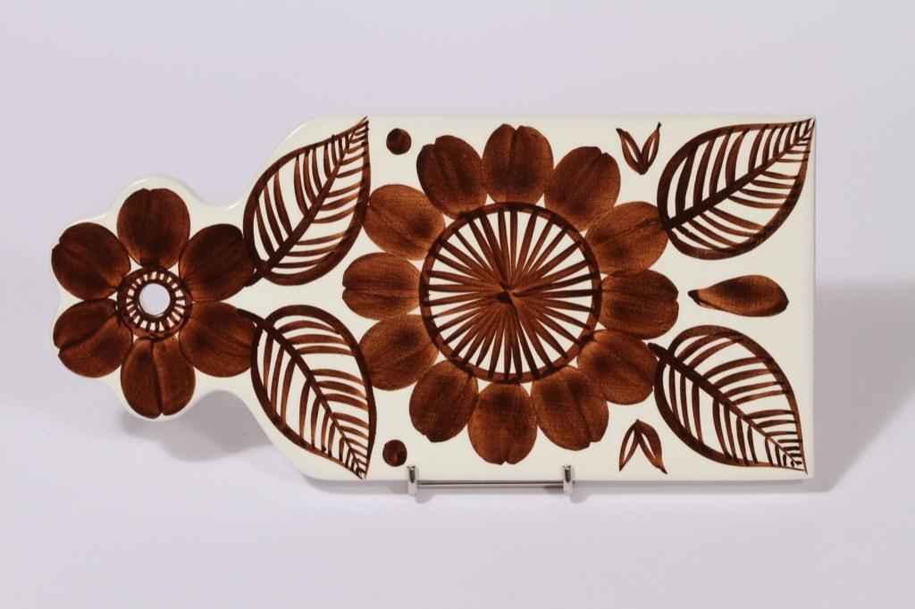 Arabia Köökki talouslevy, ruskea, suunnittelija , käsinmaalattu, signeerattu, retro