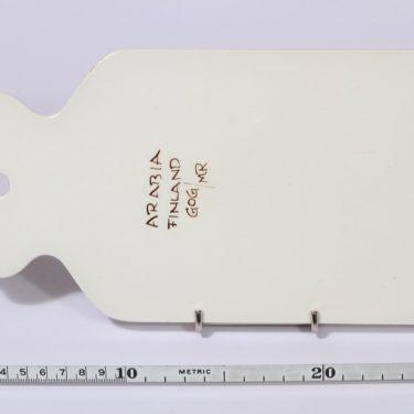 Arabia Köökki talouslevy, ruskea, suunnittelija , käsinmaalattu, signeerattu, retro kuva 2