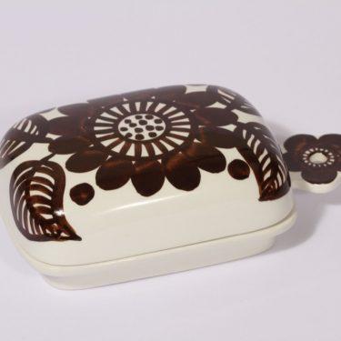 Arabia Köökki voirasia, ruskea, suunnittelija , käsinmaalattu, signeerattu, retro