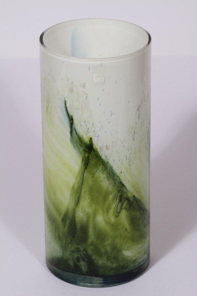 Riihimäen lasi Koralli maljakko, suuri, suunnittelija Tamara Aladin, suuri, opaaliverho