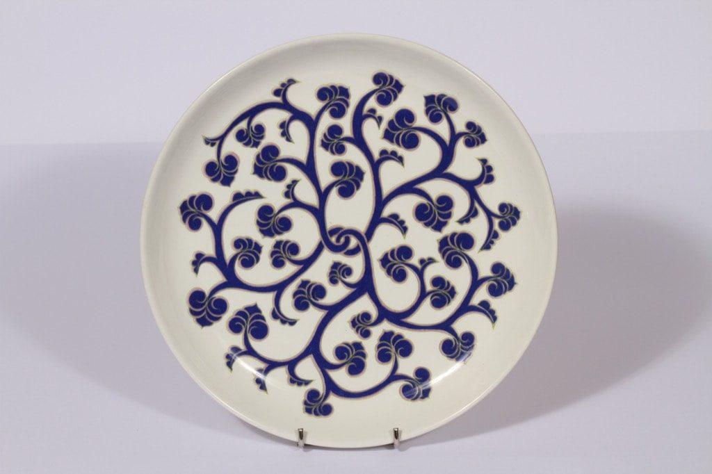 Arabia Lyydia vati, sininen, suunnittelija , serikuva, retro