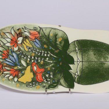 Arabia koristelaatta, Elämän rikkaus, suunnittelija Heljä Liukko-Sundström, Elämän rikkaus, suuri, serikuva, kukka-aihe