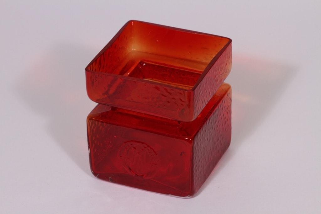 Riihimäen lasi Pala maljakko, rubiininpunainen