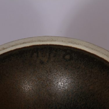 Arabia kynttilänjalka, sininen, suunnittelija Anja Jaatinen, käsinmaalattu, käsin dreijattu, signeerattu kuva 3