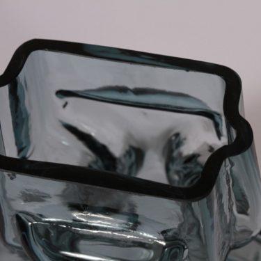 Riihimäen lasi Emma maljakko, siniharmaa, suunnittelija Helena Tynell,  kuva 3