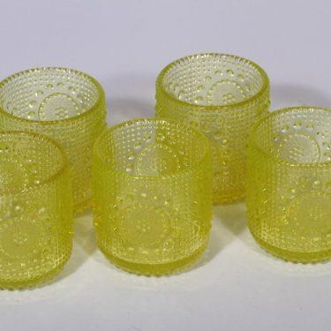 Riihimäen lasi Grapponia lasit, keltainen, 5 kpl, suunnittelija Nanny Still, 15 cl