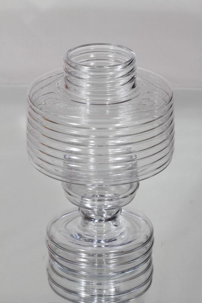Riihimäen lasi Apollo kynttilälyhty, kirkas, suunnittelija Nanny Still,
