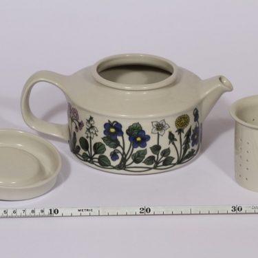 Arabia Flora teekaadin, suunnittelija , 1.35 l, serikuva, kukka-aihe kuva 2