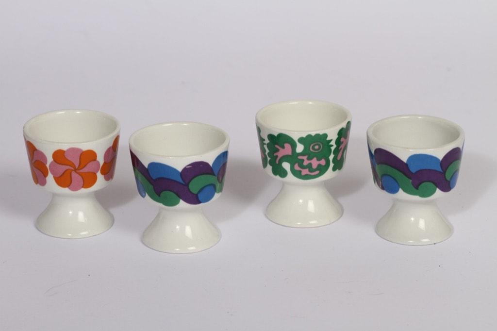 Arabia HN munakupit, 4 kpl, suunnittelija , serikuva, eri värejä