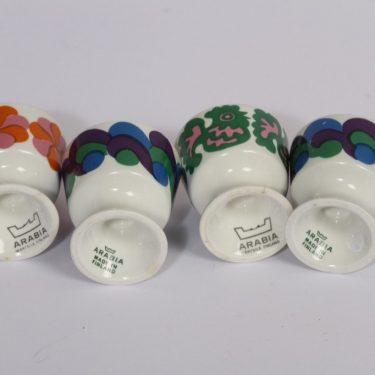 Arabia HN munakupit, 4 kpl, suunnittelija , serikuva, eri värejä kuva 2