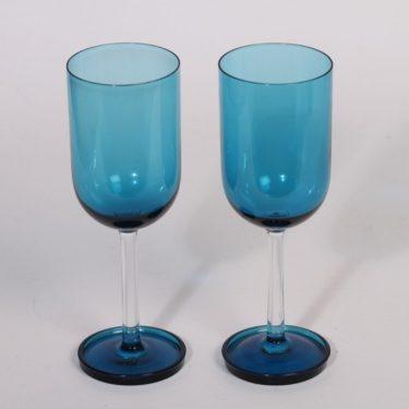 Riihimäen lasi Harlekiini mehulasit, sininen, 2 kpl, suunnittelija Nanny Still, 15 cl
