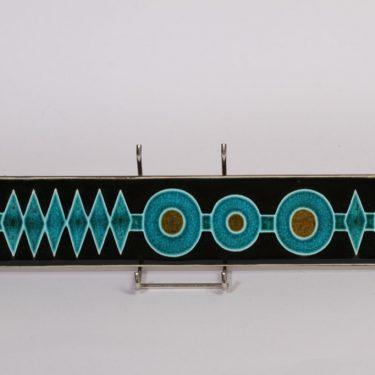 Arabia Ornamentti koristelaatta, suunnittelija , käsinmaalattu, turkoosi, signeerattu
