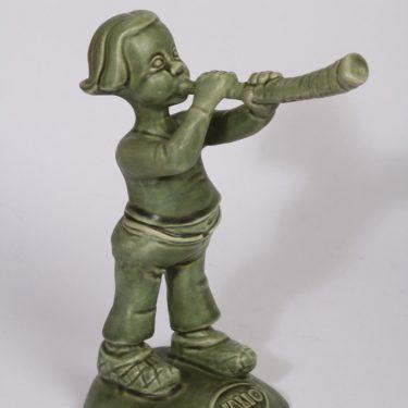 Arabia figuuri, Paimenpoika, suunnittelija , Paimenpoika, vihreä lasite, tilaustyö
