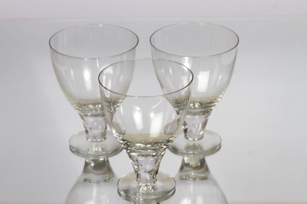 Nuutajärvi GN 45 lasit, kirkas, 3 kpl, suunnittelija Gunnel Nyman, 35 cl