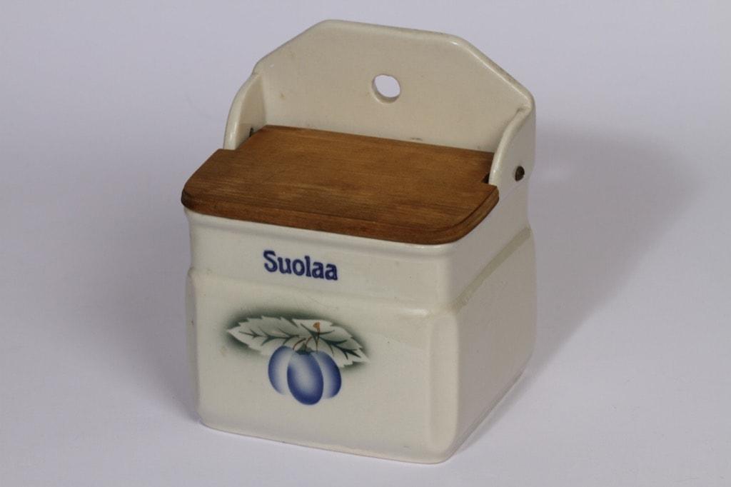 Arabia Luumu suola-astia, suunnittelija , puhalluskoriste