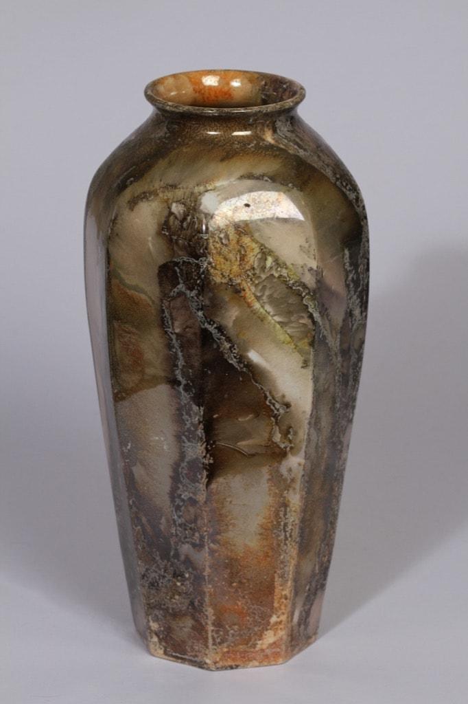 Arabia Loistomarmori maljakko, suunnittelija , suuri, lysterimarmorikoriste