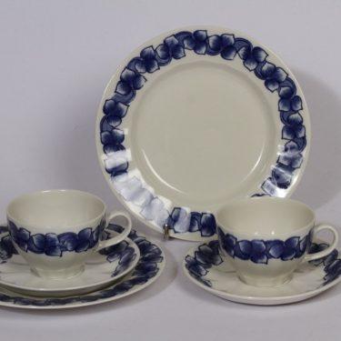 Arabia Rinki coffee cups, saucer and plate, 2 pcs