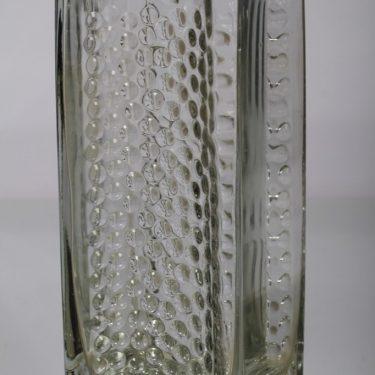 Riihimäen lasi Largo maljakko, suunnittelija Tamara Aladin, suuri, kirkas, massiivinen