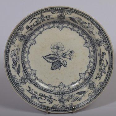 Arabia Speranza lautanen, sininen, suunnittelija , syvä, kuparipainokoriste