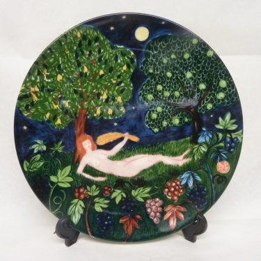 Arabia Horoskooppi seinälautanen, Neitsyt, suunnittelija Dorrit von Fieandt, Neitsyt, horoskooppiaihe