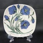 Arabia Botanica koristelautanen, Kurjenkello, suunnittelija , Kurjenkello, pieni, serikuva