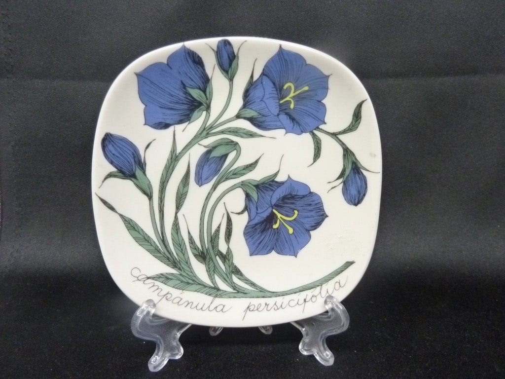Arabia Botanica decorative plate, Kurjenkello, small, silk screening