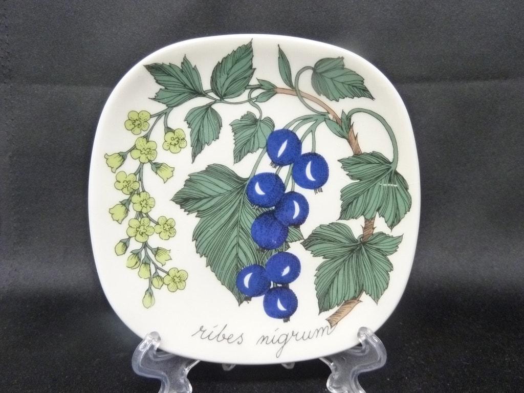 Arabia Botanica decorative plate, Musta Viinimarja, small, silk screening