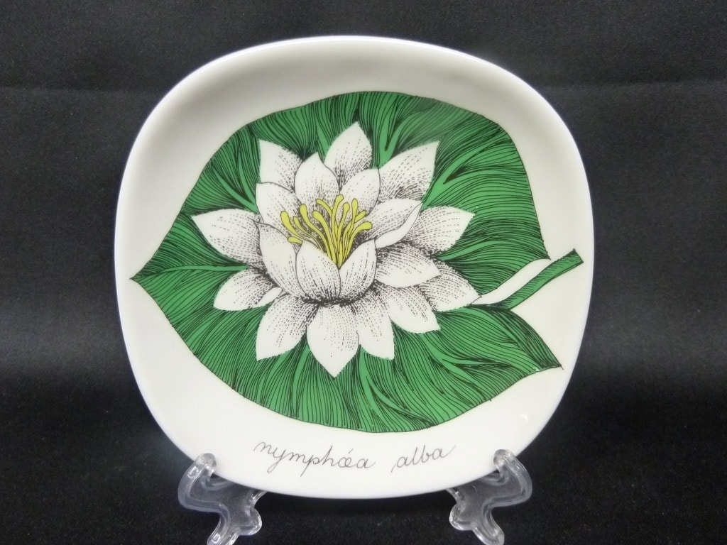 Arabia Botanica decorative plate, Valkolumme, small, silk screening