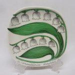 Arabia Botanica koristelautanen, Kielo, suunnittelija , Kielo, pieni, serikuva